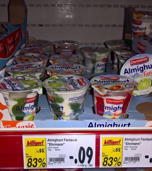 Ehrmann Joghurt verschiedene Sorten [Lokal 07607]