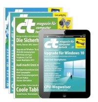 6x c't als Heft & digital für 21,30€ + 15€ Amazon-Gutschein + 5€ Qipu