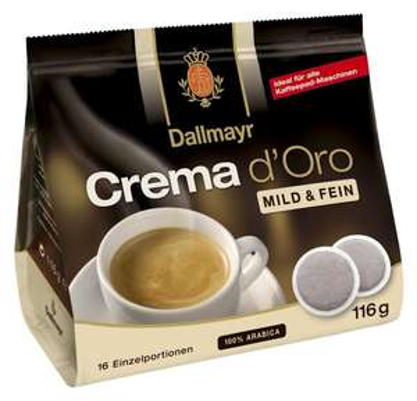 Crema d'Oro mild und fein Pads 116g - 5er Karton ( 5 x 16 Pads) für 4,29 Euro