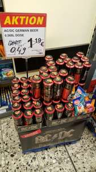 [Düsseldorf - lokal?] Kaiser's: AC/DC German Beer 0,568l für 0,49€ statt 1,19€ (zzgl. Pfand)