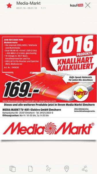 [Lokal] Fritzbox 7490 Media Markt Elmshorn
