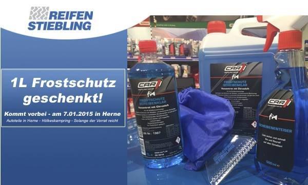 Lokal Herne - Gratis Frostschutz bei Reifen Stiebling (nur am 07.01.2015)