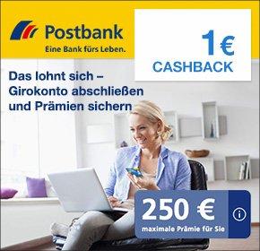 [Qipu] [Postbank] kostenloses Girokonto mit bis zu 250€ Amazon-GS Prämie (+1€ CB)