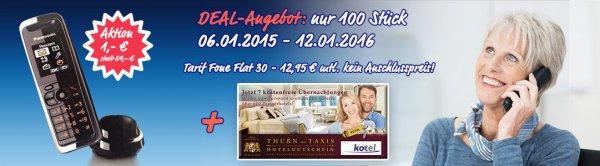 Seniorentarif Festnetzflat im o2 Netz + Hotelgutschein von Thurn und Taxis