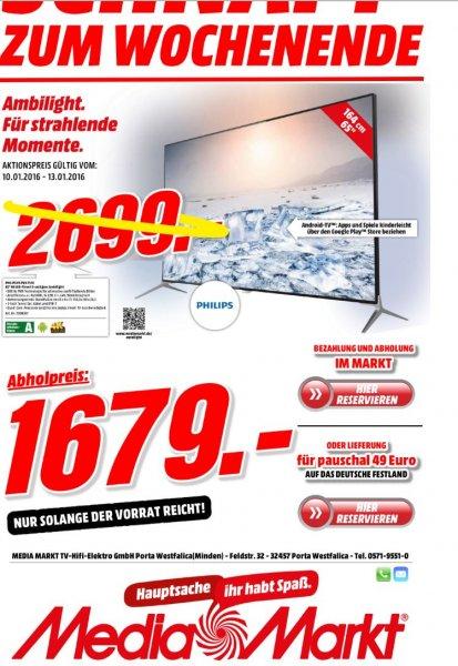 PHILIPS 65PUK7120/12 LED TV (Flat, 65 Zoll, UHD 4K, 3D, SMART TV)  statt 2699 € nur 1679€