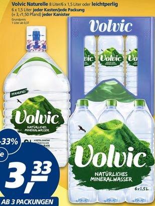 REAL-Markt {offline, bundesweit}: Volvic Wasser ab 3 Packungen (24l) - 42cent/Liter