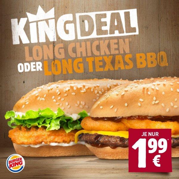Long Texas BBQ für 1,99 Euro @ Burger King