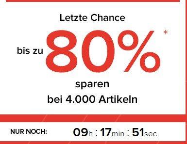 dress-for-less: Nur noch heute bis zu 80%  + 10 / 15 % Gutschein