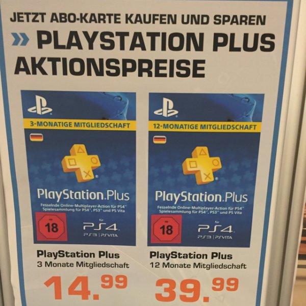Saturn Norderstedt & Hamburg PlaystationPLUS Mitgliedschaft