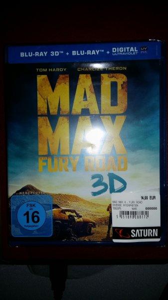 Mad Max Fury Road 3D - Blu-Ray / Saturn Hürth