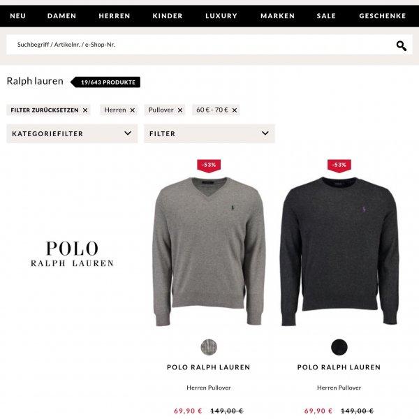 Ralph Lauren Merino-Pullover für 69,90€