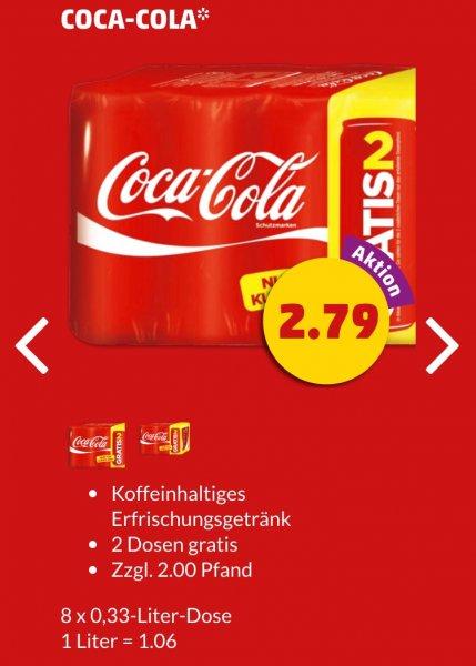 8x Coca Cola Dosen 0,33L beim Penny Framstag