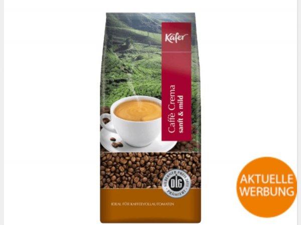 [Saturn]  1 Kg Käfer Caffè Crema Kaffeebohnen für 7,49€ VSK-frei!