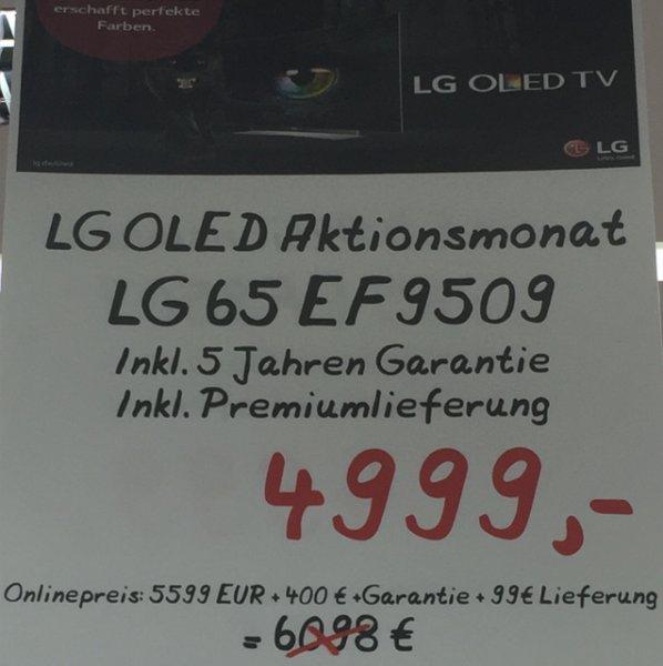 (Lokal Saturn Westenhellweg in Dortmund) LG 65EF9509 für 4999€