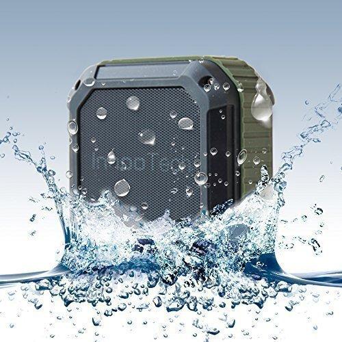 [Amazon] InnooTech Wasserdichter Bluetooth Lautsprecher - Wireless Tragbarer Lautsprecherbox Stereo Speaker mit IP54 Wasserdicht Standard für Outdoor / Dusche, Kompatibel mit iPhone, iPad, Android Handys, Smart Phones und MP3-Player usw. (Olivgrün)