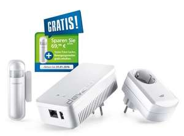 Devolo Home Control Starter Paket kaufen und kostenlos einen Bewegungsmelder im Wert von 69,99 EUR geschenkt bekommen.