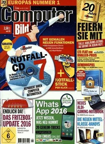 Computer Bild mit DVD Halbjahresabo (13 Ausgaben) für 19,90€ stattt 65€