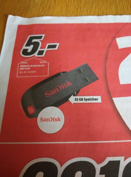 Sandisk Cruzer Blade 5€ 32Gb Mediamarkt
