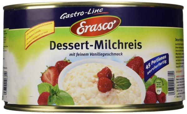 Dessert-Milchreis von Erasco in der 4.5 kg-Dose für 8,36 € statt 22,00 €, @Amazon prime