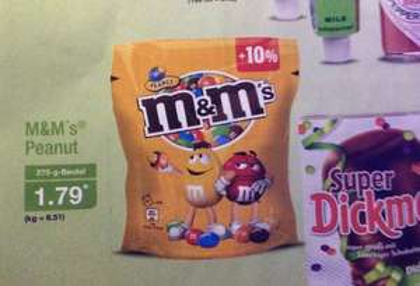 (Aldi Nord) M&M's Peanut für 1,79€