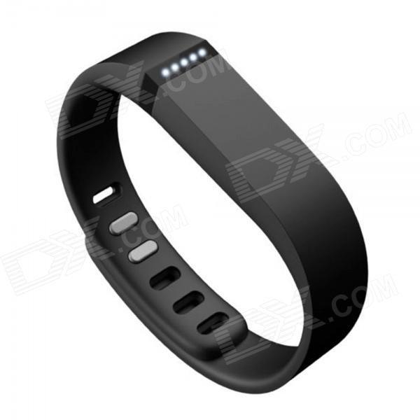 Ersatz-großen Sport TPE + TPU-Armband mit Haken für Smart Fitbit Flex Armband - schwarz