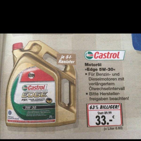 Castrol 5W-30 Motoröl 33,-€ [kaufland lokal leipzig]