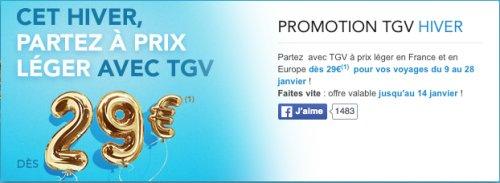 SNCF - TGV Fahrt ab Frankfurt oder München nach Paris für 29€
