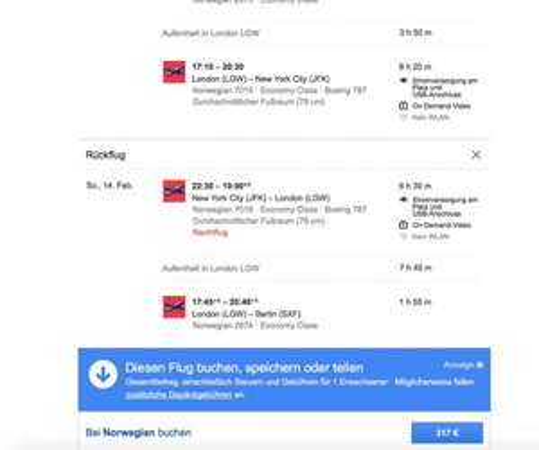 Berlin nach New York Im Februar für 317 Eur
