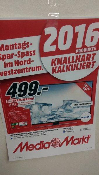 Samsung UE40JU6450 für 499,- im Media Markt Frankfurt Nord West Zentrum