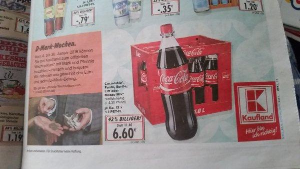 Kasten Coca-Cola, Fanta, Sprite, etc. 6,60 € bei Kaufland (Henstedt-Ulzburg)