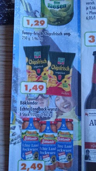 250g Funny Frisch Chips ungarisch Trink und Spare NRW