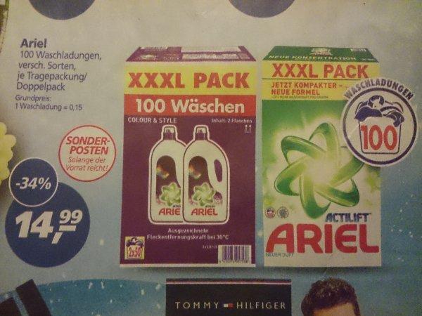 (Real) Ariel 100 Wäschen für 14,99