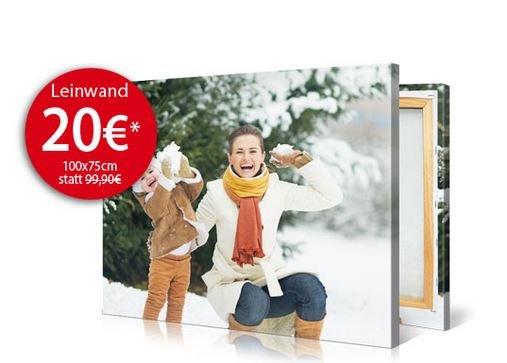 Große Fotoleinwand 100 x 75 cm für 26,90€ auf meinfoto.de