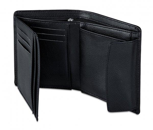 [8% Qipu] Schwarze Geldbörse mit vielen Fächern in Lederoptik für 6,95€ bei Lieferung in die Filiale @Tchibo Online