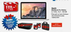"(CH+FL) Apple MacBook Pro Retina 2.7GHz 13.3"" 128GB + gratis HP Envy 4520 + Tinenpatronen + Dicota Notebooktasche"