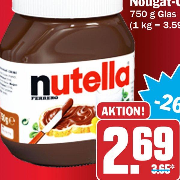 [HIT Bundesweit] Nutella 750g Glas für 2,69€