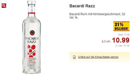 [OFFLINE/KAUFLAND] Bacardi Razz 0,7l