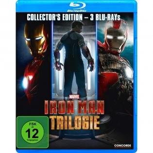 Iron Man Trilogie (Blu-ray) für 8,49€ und Die Twilight Saga 1-3 (Blu-ray) für 6,48€ bei Redcoon.de