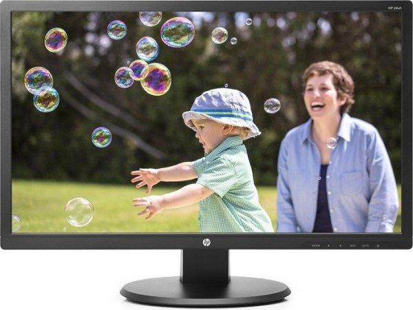 "HP 24uh, 24"" Monitor mit Full-HD, VGA, DVI, HDMI, VESA für 115,99€ bei Notebooksbilliger.de"