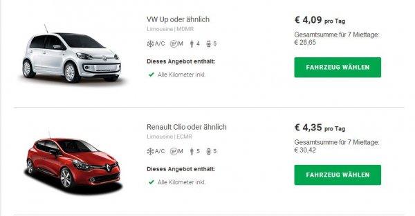 Mietwagen Lissabon bei Sixt für eine Woche 28,65€