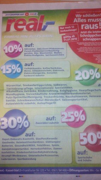 [Lokal Real Kassel] Schließung des Marktes - Einige Rabatte + Payback 10fach nutzen