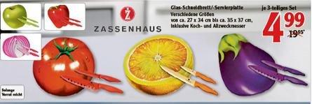 [Lokal Globus Limburg] Zassenhaus Schneidebrett + 2x Messer