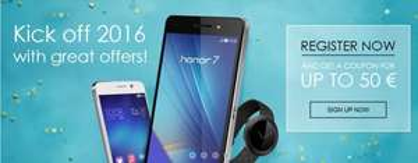 [vMall.eu] Honor 7, Honor 6, Honor Band Z1 für 299,99, 249,99 und 49,99 am 14.01.2016 um 10:30 Uhr