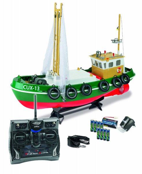 @Amazon: Carson 500108014 - Fischkutter Cux-13, 100% RTR, 2.4 GHz  für 128,01€ / Idealo 156,80€