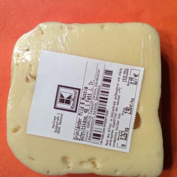 Grünländer Mild und Nussig am Stück 2,90€/Kg lokal im Kaufland Hannover