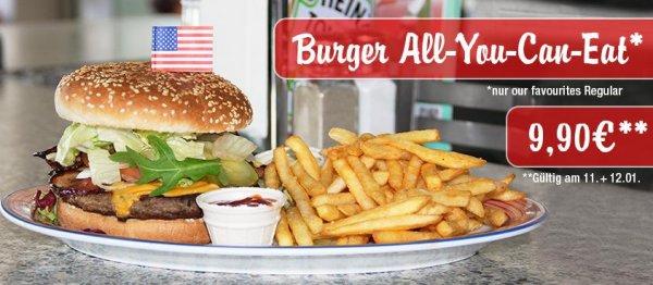 Burger - All You Can Eat, für nur 9,90 € bei Miss Pepper am 11.+12. Januar