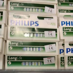 12er Pack Philips Longlife AAA Batterien @Woolworth