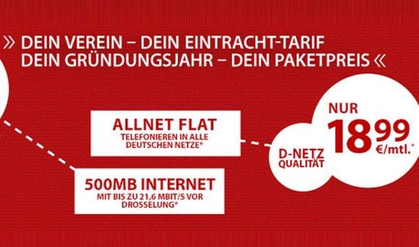 Eintracht-Deals: Handyverträge 18,99€ / Monat und Smartphone ab 1,00€ - Otelo -