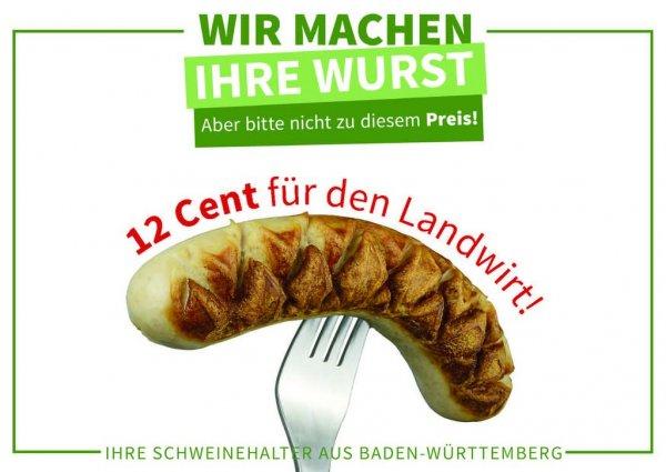 Bratwurst im Semmel für 12 cent (Lokal Ulm)