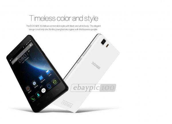 WIEDER DA: DOOGEE X5 1GB+8GB 5.0 Zoll Android 5.1 3G Smartphone MTK6580 Quad Core Dual SIM